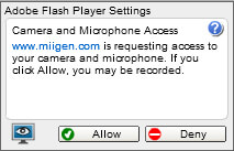 Allowing access to microphone on Internet Explorer