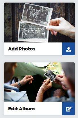 Add Photo and edit album buttons